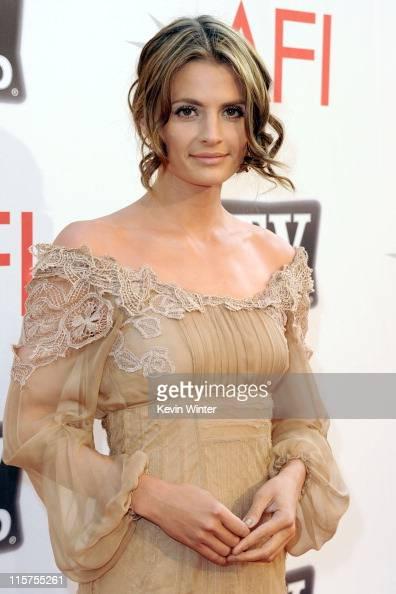Actress Stana Katic arrives at the 39th AFI Life
