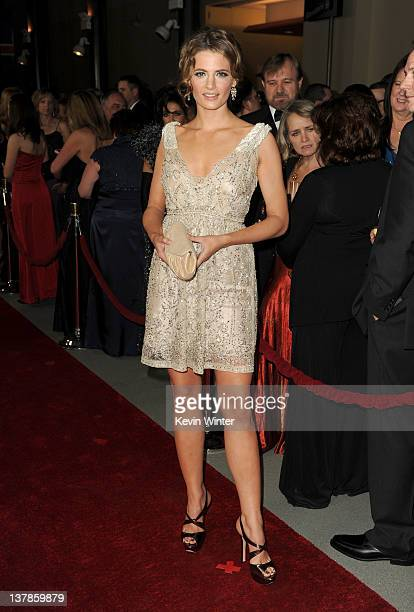 Actress Stana Katic arrives at the 64th Annual Directors Guild Of America Awards held at the Grand Ballroom at Hollywood Highland on January 28 2012...