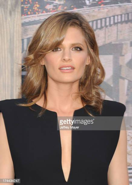 Actress Stana Katic arrives at 'The Lone Ranger' World Premiere at Disney's California Adventure on June 22, 2013 in Anaheim, California.