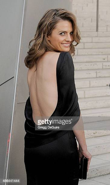 Actress Stana Katic arrives at The Los Angeles Philharmonic Opening Night Concert And Gala at Walt Disney Concert Hall on September 30 2014 in Los...