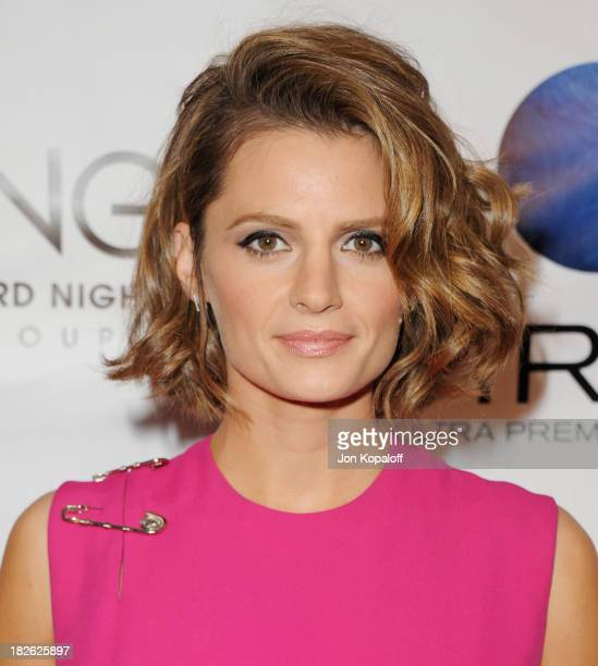 Actress Stana Katic arrives at the Los Angeles Premiere 'CBGB' at ArcLight Cinemas on October 1 2013 in Hollywood California