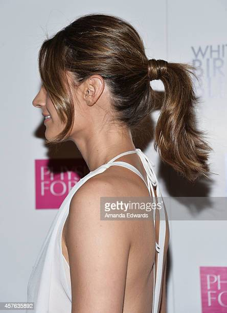 Actress Stana Katic arrives at the Los Angeles premiere of White Bird In A Blizzard at ArcLight Hollywood on October 21 2014 in Hollywood California
