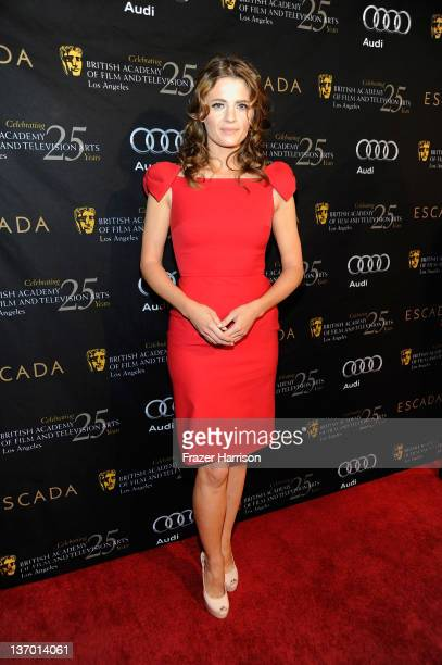 Actress Stana Katic attends BAFTA Los Angeles' 18th annual Awards Season Tea Party held at Four Seasons Hotel Los Angeles at Beverly Hills on January...