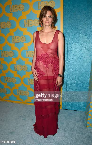 Actress Stana Katic attends HBO's Post 2015 Golden Globe Awards Party at Circa 55 Restaurant on January 11 2015 in Los Angeles California