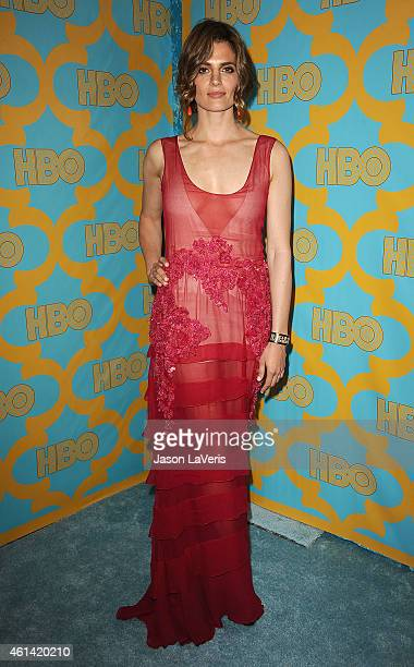 Actress Stana Katic attends HBO's post Golden Globe Awards party at The Beverly Hilton Hotel on January 11 2015 in Beverly Hills California