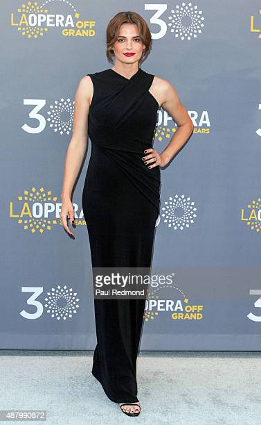 Actress Stana Katic attends LA Opera's 30th Anniversary Season Opening Night at Dorothy Chandler Pavilion on September 12 2015 in Los Angeles...