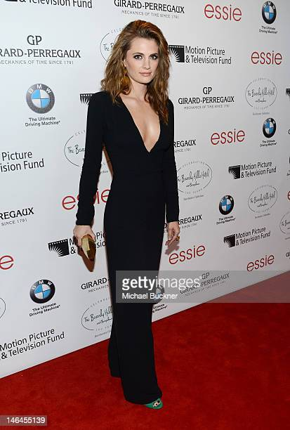 Actress Stana Katic attends the 100th anniversary celebration of the Beverly Hills Hotel & Bungalows supporting the Motion Picture & Television Fund...