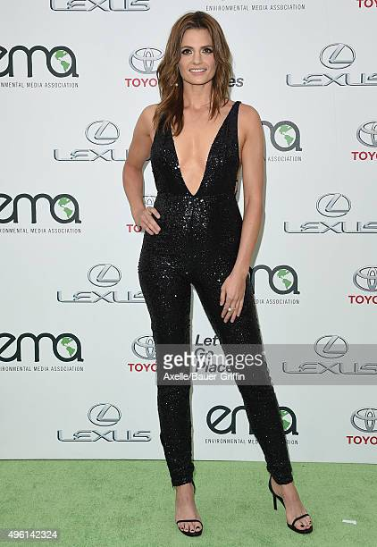 Actress Stana Katic attends the 25th annual EMA Awards presented by Toyota and Lexus and hosted by the Environmental Media Association at Warner...