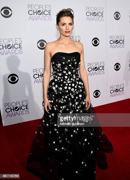 Actress Stana Katic attends The 41st Annual People's Choice Awards at Nokia Theatre LA Live on January 7 2015 in Los Angeles California