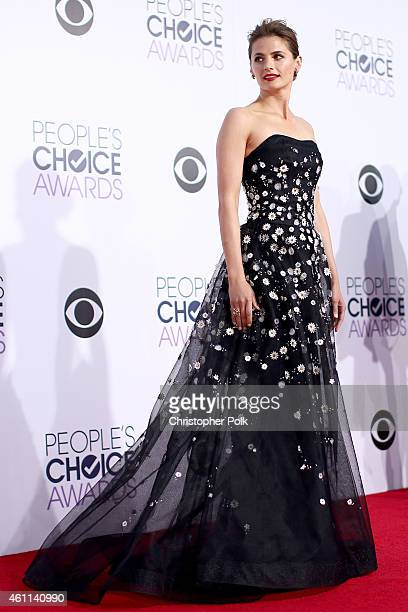 Actress Stana Katic attends The 41st Annual People's Choice Awards at Nokia Theatre LA Live on January 7, 2015 in Los Angeles, California.