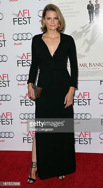 Actress Stana Katic attends the AFI FEST 2013 presented by Audi premiere of Walt Disney Pictures' Saving Mr Banks at TCL Chinese Theatre on November...