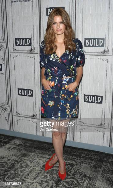 "Actress Stana Katic attends the Build Series to discuss ""Absentia"" at Build Studio on June 13, 2019 in New York City."