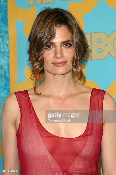 Actress Stana Katic attends the HBO'S Post Golden Globe Party held at The Beverly Hilton Hotel on January 11 2015 in Beverly Hills California