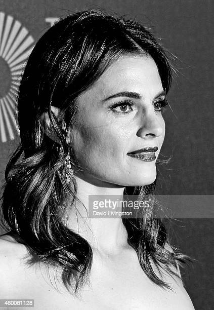 Actress Stana Katic attends The Music Center's 50th Anniversary Spectacular at the Dorothy Chandler Pavilion on December 6 2014 in Los Angeles...