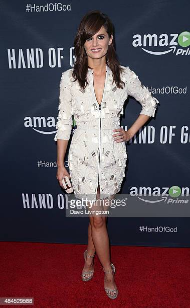 "Actress Stana Katic attends the premiere of Amazon's Series ""Hand of God"" at Ace Theater Downtown LA on August 19, 2015 in Los Angeles, California."