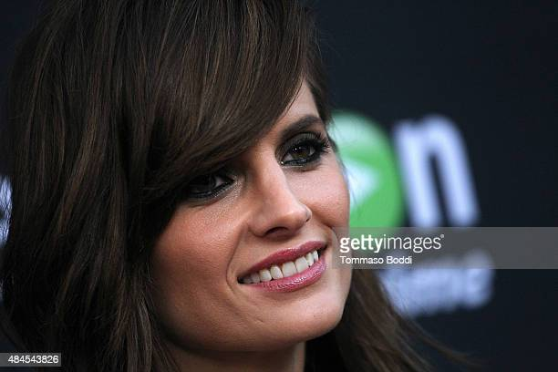 Actress Stana Katic attends the premiere of Amazon's series Hand Of God held at the Ace Theater Downtown LA on August 19 2015 in Los Angeles...