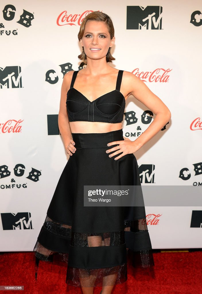 Actress Stana Katic attends the Premiere of 'CBGB: The Movie' during the CBGB Music & Film Festival 2013 at Landmark Sunshine Cinema on October 8, 2013 in New York City.