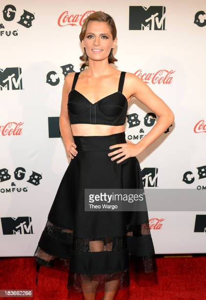 Actress Stana Katic attends the Premiere of 'CBGB The Movie' during the CBGB Music Film Festival 2013 at Landmark Sunshine Cinema on October 8 2013...