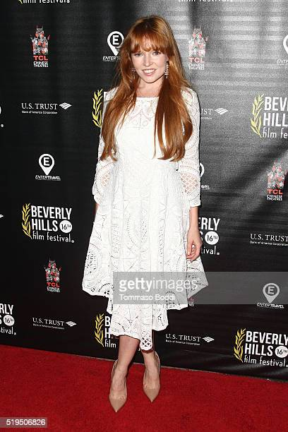 """Actress Stef Dawson attends the Beverly Hills Film Festival - Opening Night Premiere Of """"The Lennon Report"""" And """"Baby, Baby, Baby"""" at TCL Chinese 6..."""