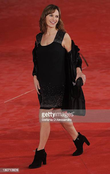 Actress Stefania Montorsi attends 'Il Mio Domani' Premiere on October 28 2011 in Rome Italy