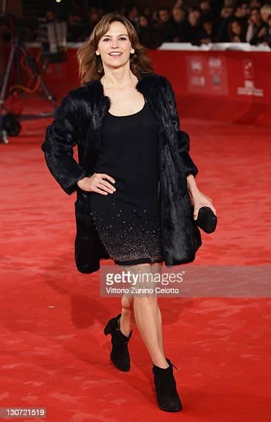 Actress Stefania Montorsi attends the 'Il Mio Domani' Premiere at Auditorium Parco Della Musica on October 28 2011 in Rome Italy