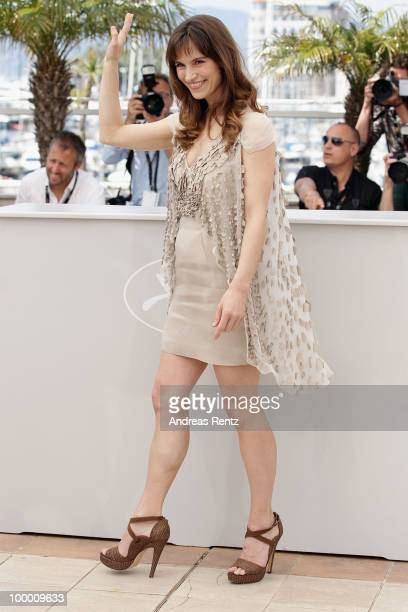 Actress Stefania Montorsi attends the 'Our Life' Photocall at the Palais des Festivals during the 63rd Annual Cannes Film Festival on May 20 2010 in...