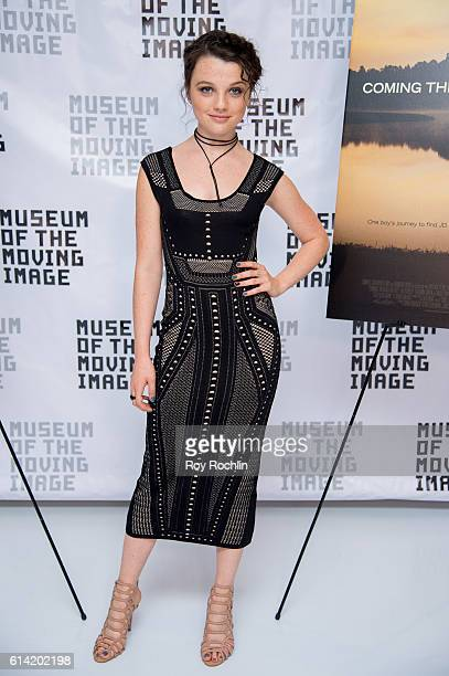Actress Stefania Owen attends 'Coming Through The Rye' New York screening at Museum of the Moving Image on October 12 2016 in New York City