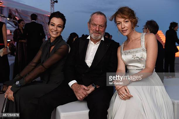 Actress Stefania Rocca director Terry Gilliam and actress Cristiana Capotondi attend the JaegerLeCoultre gala event celebrating 10 years of...