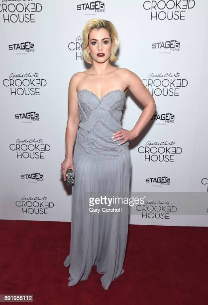 Actress Stefanie Martini attends the 'Crooked House' New York premiere at Metrograph on December 13 2017 in New York City