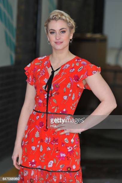 Actress Stefanie Martini seen at the ITV This Morning studios on March 2 2017 in London England