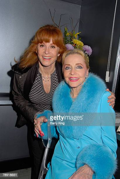 LOS ANGELES CA JANUARY 11 Actress Stefanie Powers and actress Anne Jeffreys attend Venice Magazine's after party for The Catholic Girl's Guide to...