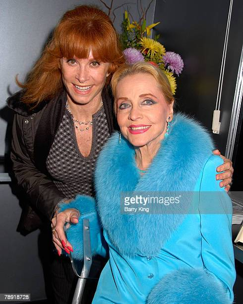 LOS ANGELES CA JANUARY 11 Actress Stefanie Powers and actress Anne Jeffreys attends Venice Magazine's after party for The Catholic Girl's Guide to...