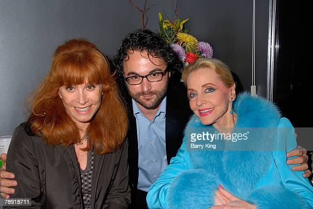 LOS ANGELES CA JANUARY 11 Actress Stefanie Powers director Eli Gonda and actress Anne Jeffreys attend Venice Magazine's after party for The Catholic...