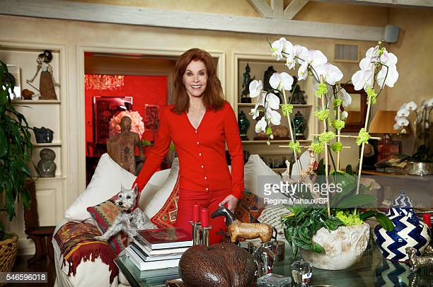 Actress Stefanie Powers is seen during an at home portrait session September 3 2014 in Los Angeles California