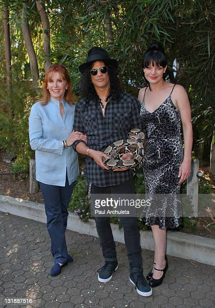 Actress Stefanie Powers Musician Slash and Actress Pauley Perrette attend the Los Angeles Zoo Association's 41st annual Beastly Ball at Los Angeles...