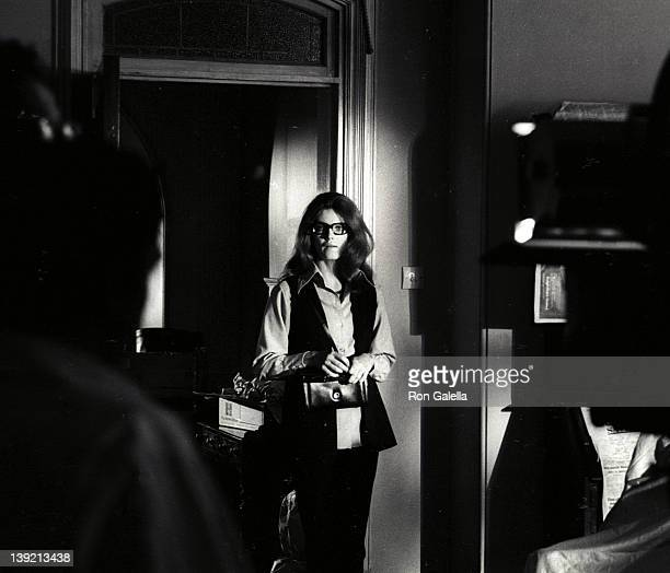 Actress Stefanie Powers sighted on location filming of 'Crescendo' on July 1 1969 in London England