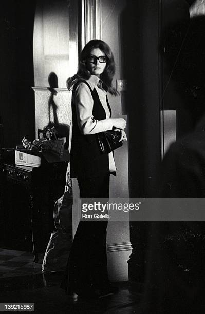 Actress Stefanie Powers sighted on location filming of Crescendo on July 1 1969 in London England