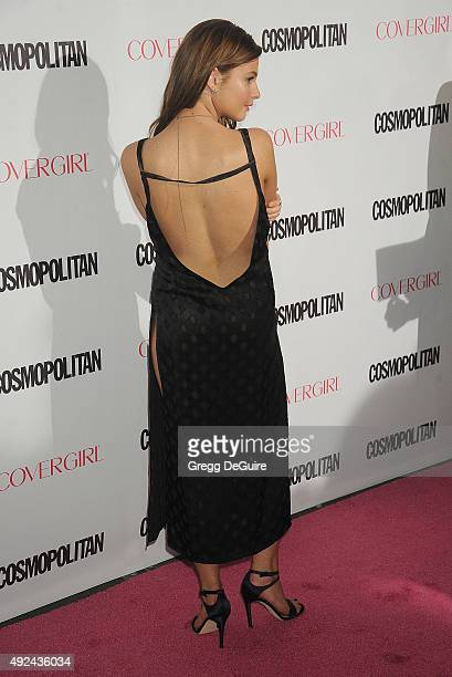 Actress Stefanie Scott arrives at Cosmopolitan Magazine's 50th Birthday Celebration at Ysabel on October 12 2015 in West Hollywood California