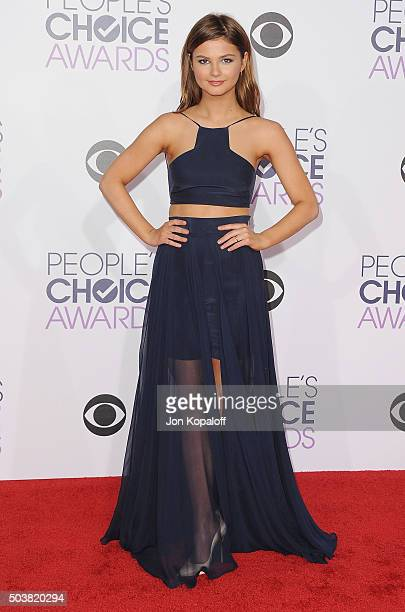Actress Stefanie Scott arrives at People's Choice Awards 2016 at Microsoft Theater on January 6 2016 in Los Angeles California