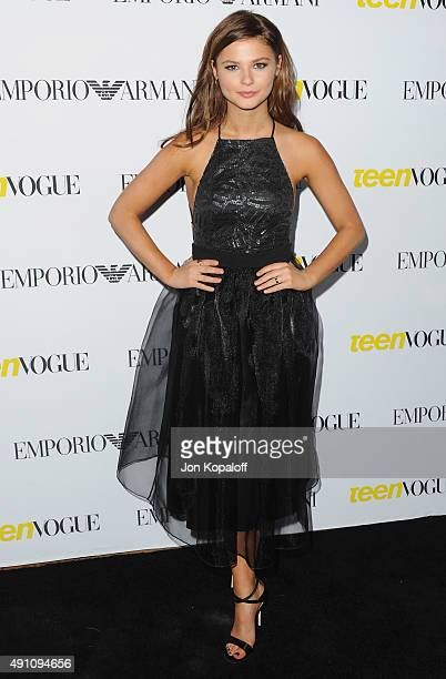 Actress Stefanie Scott arrives at Teen Vogue's 13th Annual Young Hollywood Issue Launch Party on October 2, 2015 in Los Angeles, California.