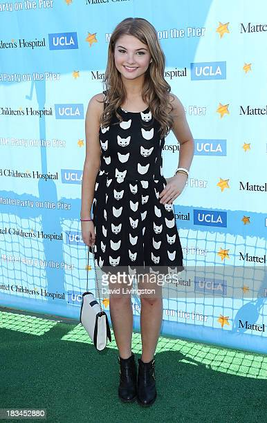 Actress Stefanie Scott attends the 14th annual Mattel Party on the Pier benefiting Mattel Children's Hospital UCLA at Pacific Park on the Santa...