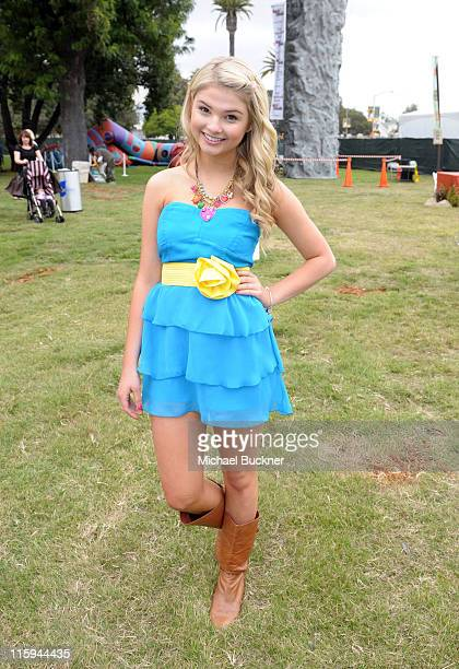 Actress Stefanie Scott attends the 22nd Annual Time for Heroes Celebrity Picnic sponsored by Disney to benefit the Elizabeth Glaser Pediatric AIDS...