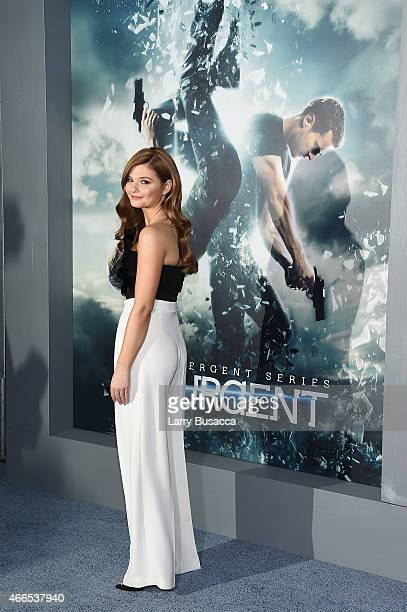 Actress Stefanie Scott attends The Divergent Series Insurgent New York premiere at Ziegfeld Theater on March 16 2015 in New York City