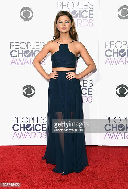 Actress Stefanie Scott attends the People's Choice Awards 2016 at Microsoft Theater on January 6 2016 in Los Angeles California