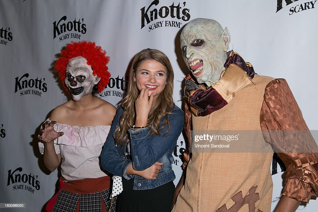 Actress Stefanie Scott attends the VIP opening of Knott's Scary Farm HAUNT at Knott's Berry Farm on October 3, 2013 in Buena Park, California.