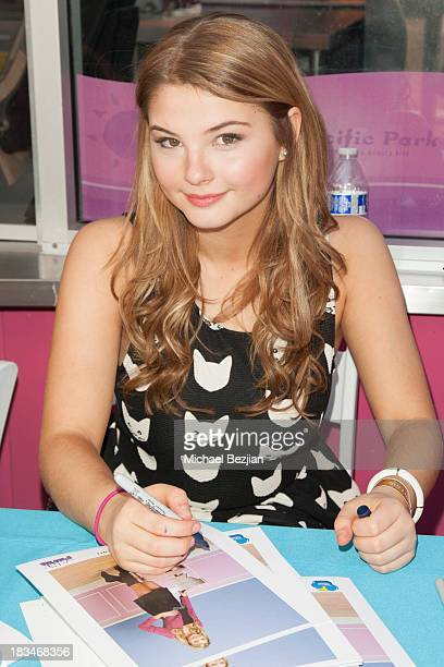 Actress Stefanie Scott autographs pictures at the 14th Annual Mattel Party On The Pier Benefiting Mattel Children's Hospital UCLA at Santa Monica...