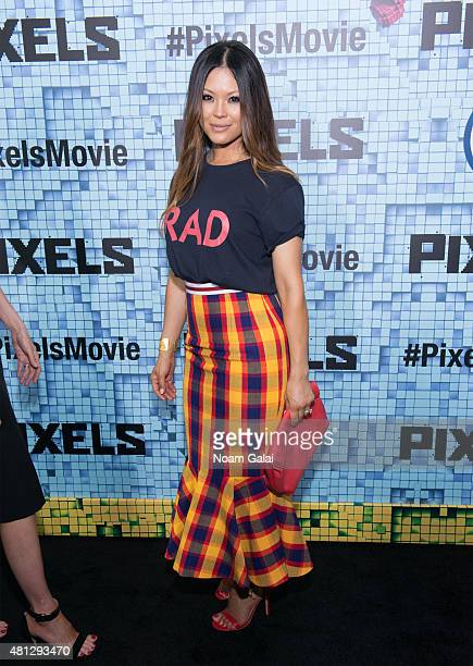 Actress Steffiana de la Cruz attends the 'Pixels' New York premiere at Regal EWalk on July 18 2015 in New York City