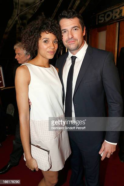 Actress Stefi Celma and Actor Arnaud Ducret attend 'Les Profs' Movie Premiere at Le Grand Rex on April 9, 2013 in Paris, France.