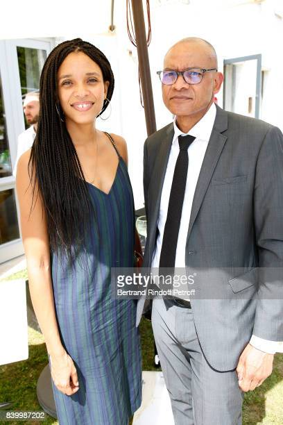 Actress Stefi Celma and Prefect of Charente Pierre N'Gahane attend the 10th Angouleme FrenchSpeaking Film Festival Day Six on August 27 2017 in...