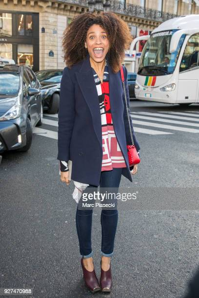 Actress Stefi Celma arrives to attend the Stella McCartney fashion show on March 5 2018 in Paris France